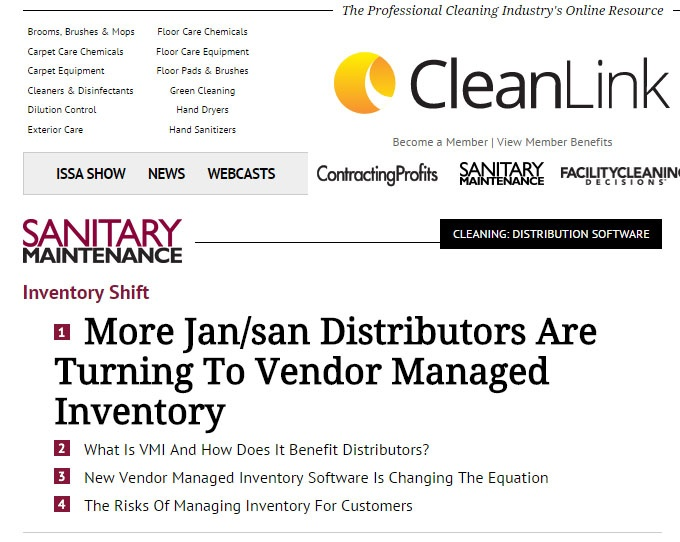 More Jan/san Distributors Are Turning To Vendor Managed Inventory