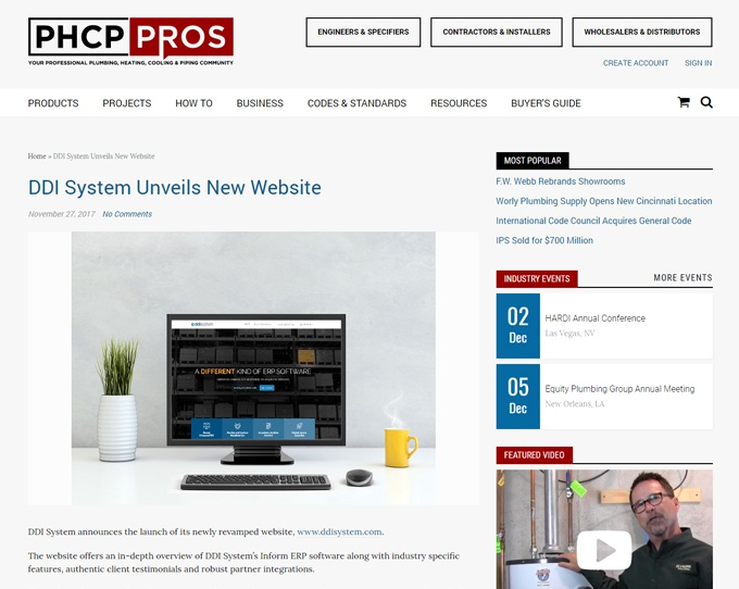 DDI System website