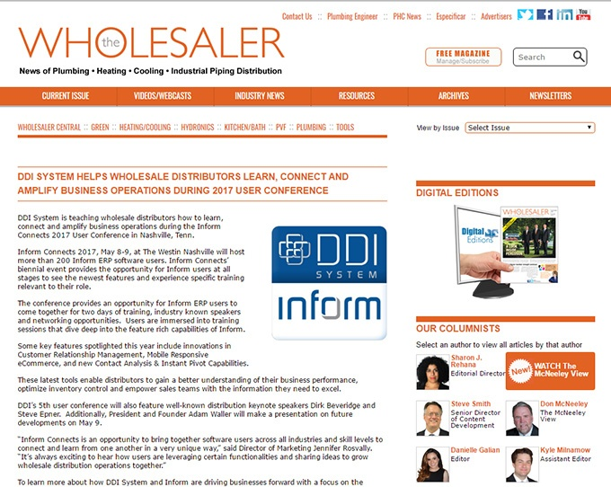 Ddi In The News Inform Erp Software News Publications