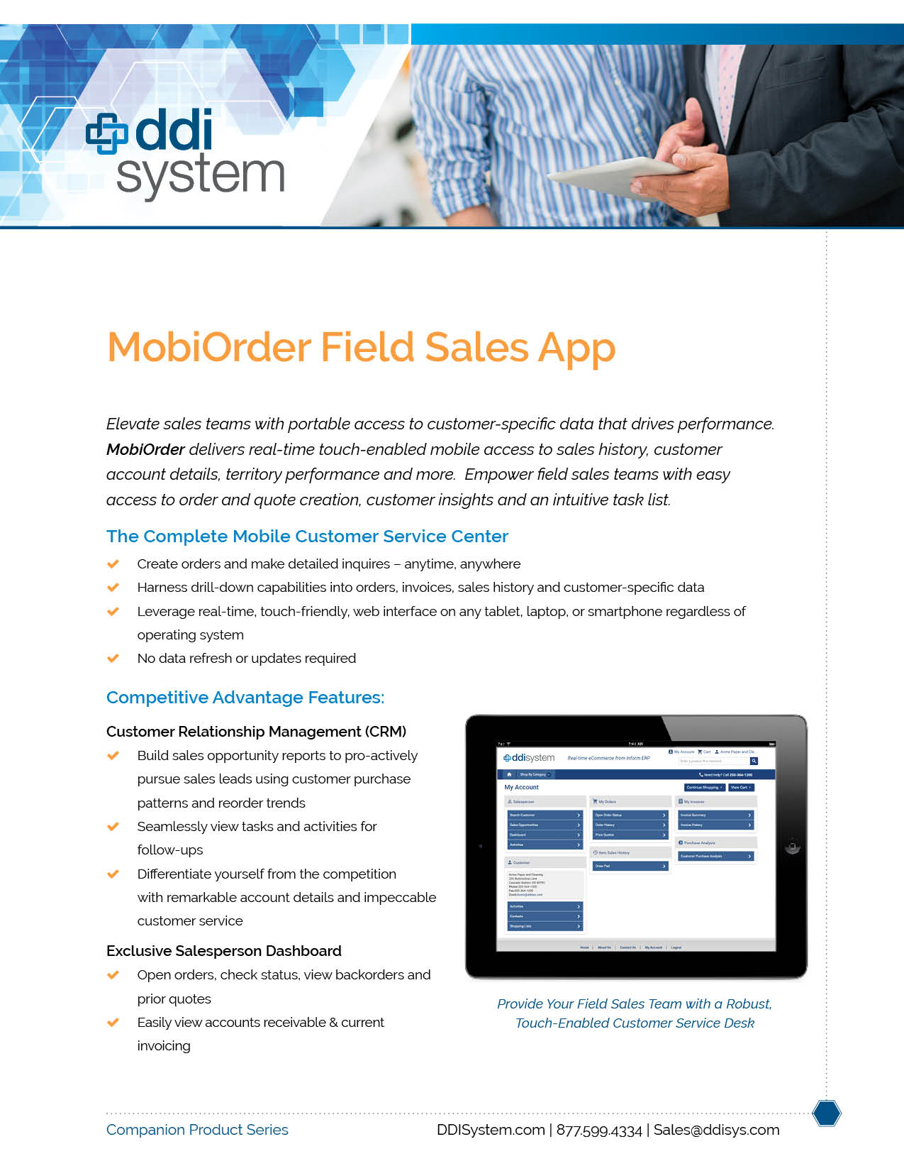 Field Sales mobility app for Inform ERP