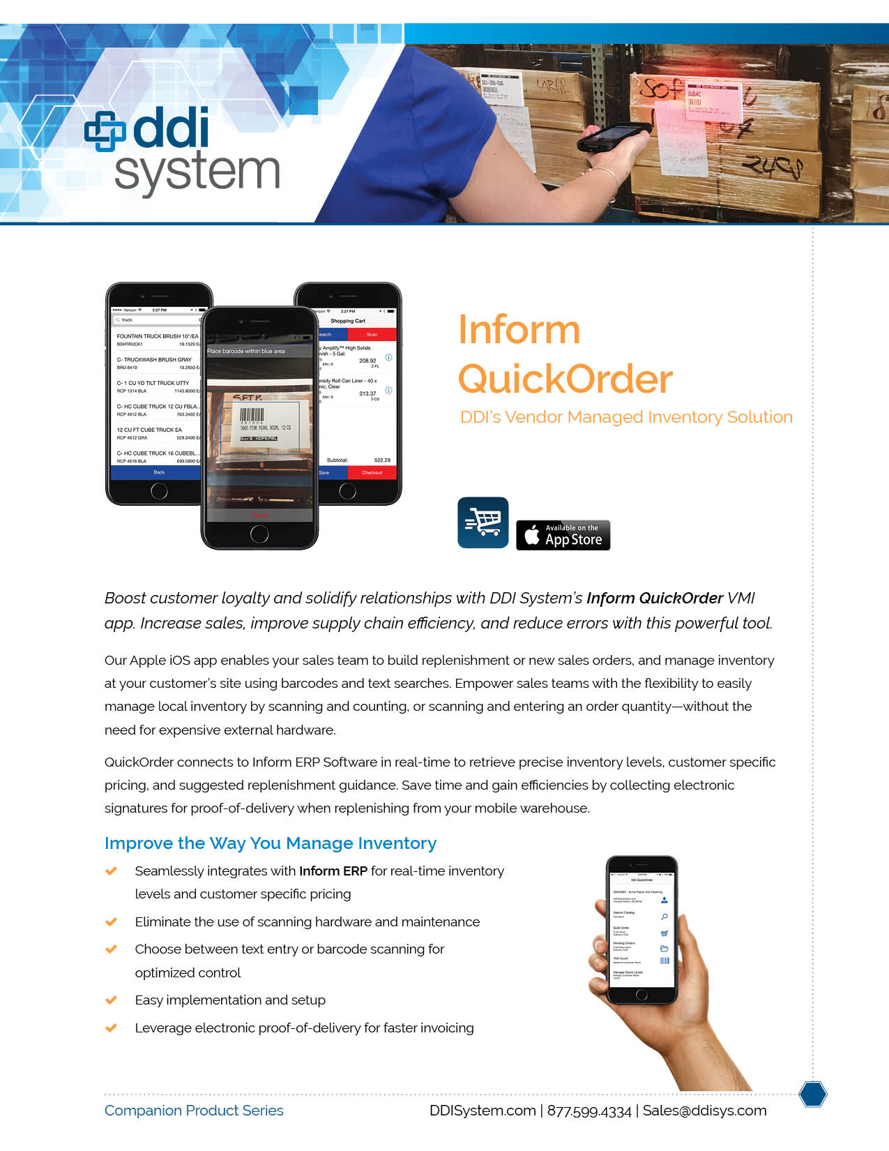 QuickOrder vendor managed inventory