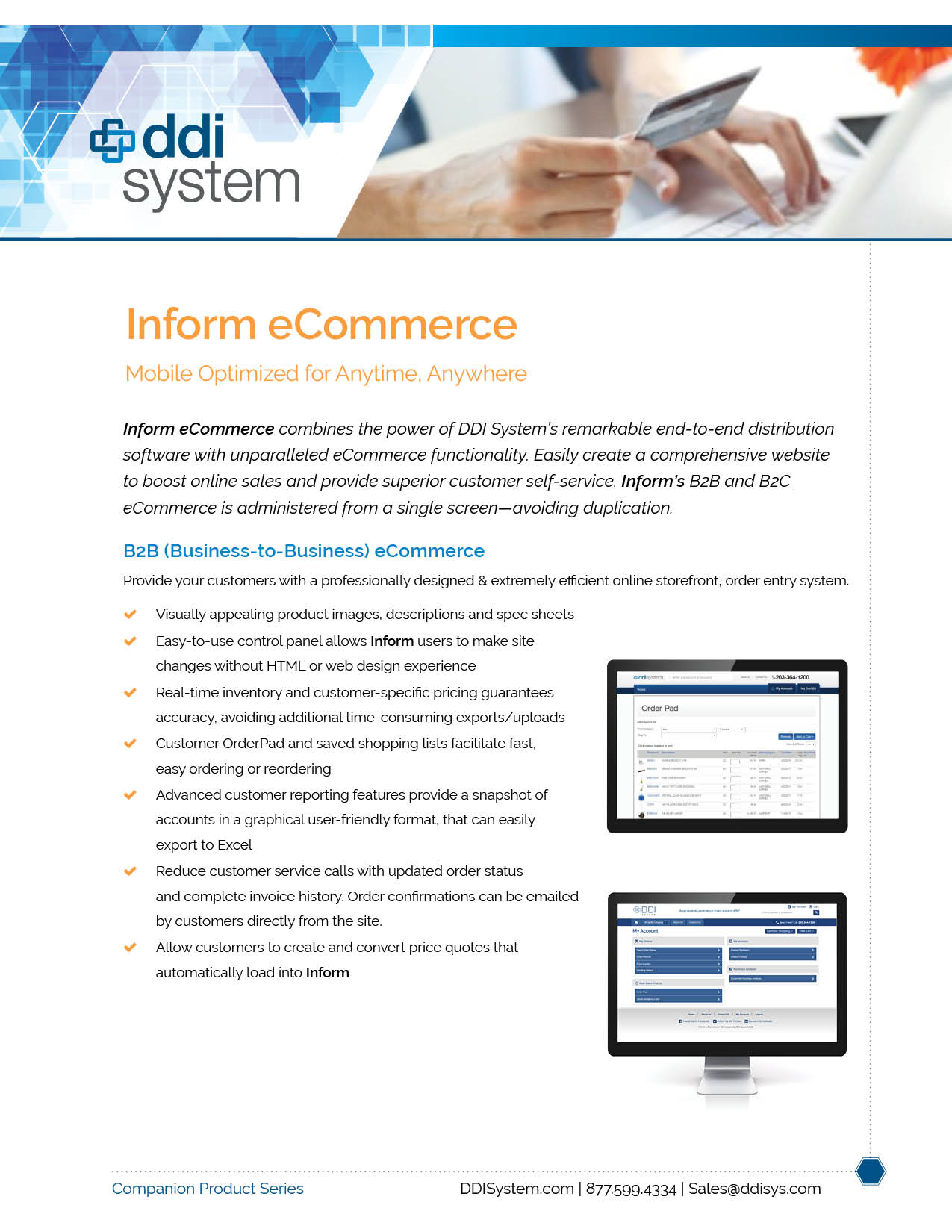 eCommerce for Inform ERP Software