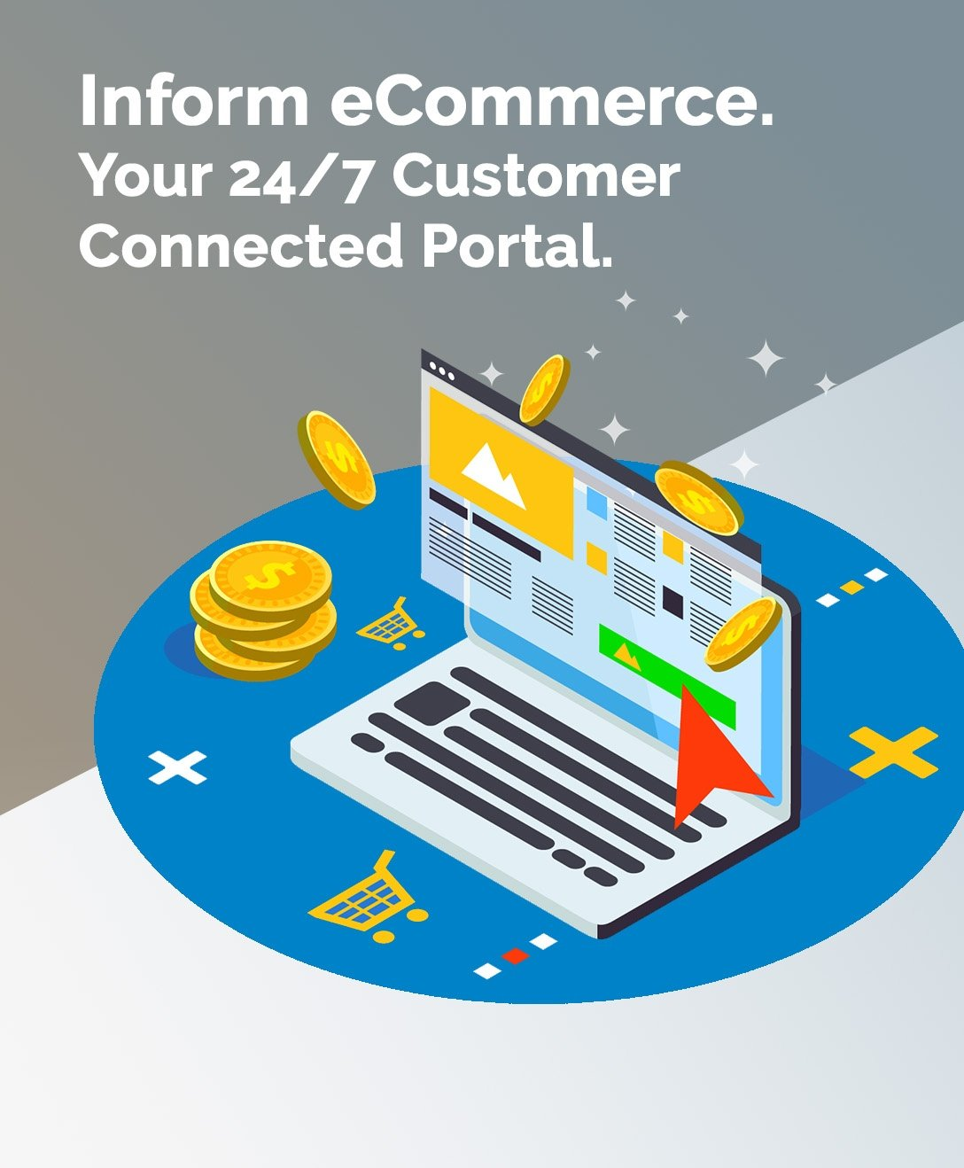 Inform ecommerce. Your 24-7 customer connected portal.